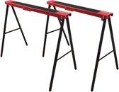 Schraag metaal - 2 stuks - inklapbaar - metalen schragen / werktafel / werkbokken