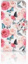 Samsung Galaxy A40 Hoesje Butterfly Roses