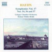 Haydn: Symphonies no 54, 56 & 57 / Muller-Bruhl, Cologn CO