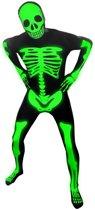 """""""""""""""Fosforescerend skelet Morphsuits™ kostuum voor volwassenen - Verkleedkleding - 180 cm"""""""""""""""