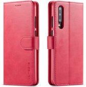 Huawei P30 Hoesje - Luxe Book Case - Roze