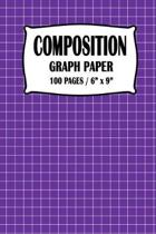 Composition Graph Paper Notebook: Purple Cover 100 pages 6 x 9 inch