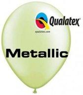 Ballonnen Metallic Lime Groen 30 cm 100 stuks