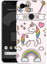Google Pixel 3 XL Hoesje Unicorn Time