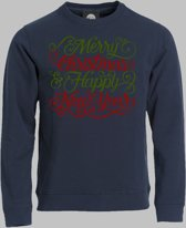 Sweater Merry christmas and happy new year - Darknavy - M