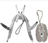 Multitool sleutelhanger - Tang, Kruiskop, Vijl, Zakmesje etc. - RVS klus gadget