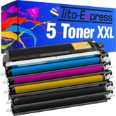 PlatinumSerie® set 5 XL toner alternatief voor Brother TN-230 black cyaan magenta yellow