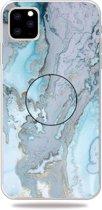Mobigear Gripper Marble Soft TPU Licht Blauw Apple iPhone 11