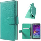 Samsung Note 4 Hoesje Case Turquoise