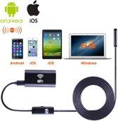 Gratis verzenden WiFi Endoscoop HD LED | Mini Camera met 2 meter  Kabel - 8 mm kop | Waterdichte inspectie camera met LED Verlichting / Voor Mobiel/ Tablet / Laptop/Saizi