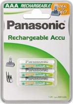 Goobay AAA 800mAh NiMH 3-BL DECT Panasonic Nikkel Metaal Hydride 800mAh 1.2V oplaadbare batterij/accu