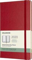 Moleskine Agenda - 12 Maanden - Wekelijks - Large (13x21cm)  - Rood - Harde Kaft