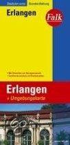 Falk Stadtplan Extra Standardfaltung Erlangen mit Umgebungskarte