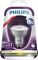 Philips LED Reflector GU 10 4 W warmwit Dimbaar 250LM – 5x5x1cm | Lampen | Verlichting met Dimfunctie | Energiebesparende lamp met Dimmer