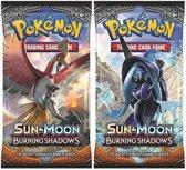 2 Pakjes Pokemon Kaarten Sun & Moon Burning Shadows