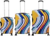 Lichtgewicht reiskofferset - koffer set -valies - DUBBEL WIEL - 3 delig Tokyo