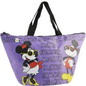 Summertime Minnie & Mickey strandtas, lila