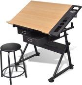 Compleet bureau met kantelbaar bureaublad + Stoel