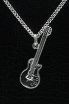 Zilveren Gibson electrische gitaar ketting hanger