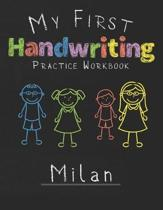 My first Handwriting Practice Workbook Milan