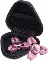 Spinner Box - Case - Stofdicht - Voor Hand Spinner - EDC - Fidget Spinner - Focus - Gyro - Speelgoed - Concentratiespeelgoed - Voorzien met Ritssluiting - Kleur Zwart-Rood