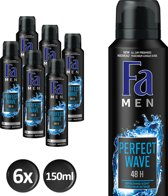 Fa Men Perfect Wave - 6x 150 ml - Voordeelverpakking - Deodorant
