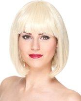 Luxe korte blonde pruik met pony voor vrouwen  - Verkleedpruik - One size