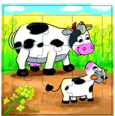 Mama Memo Legpuzzel Koeien Hout 9 Stukken 15 X 15 Cm