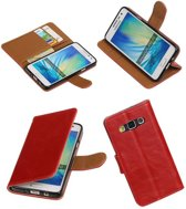 Wicked Narwal   Premium PU Leder bookstyle / book case/ wallet case voor Samsung galaxy a3 2015 A300F Rood