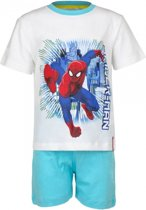 Spiderman korte pyjama jongens wit 98