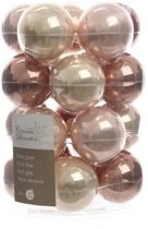 Glas Kerstballen Assorti (6cm) Box 20 Stuks Bronse