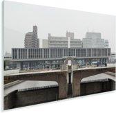 Mist boven het Vredespark Hiroshima in Japan Plexiglas 30x20 cm - klein - Foto print op Glas (Plexiglas wanddecoratie)