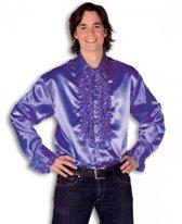 Rouche overhemd voor heren paars 2XL