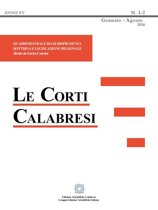 Le Corti Calabresi - Fascicolo 1-2 - 2016