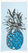 Mycha Ibiza – strandlaken – strandhanddoek – kikoy – ananas – blauw – 100% katoen