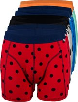 8 PACK OVERALL PRINT BOXER MAAT XS