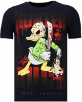 Local Fanatic Hunter Duck - Rhinestone T-shirt - Navy - Maten: L