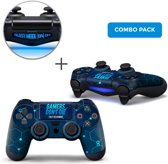 Gamers Combo Pack - PS4 Controller Skins PlayStation Stickers