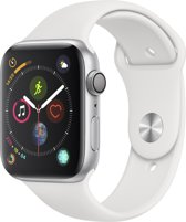 Apple Watch Series 4 - 44 mm - Zilver met wit bandje