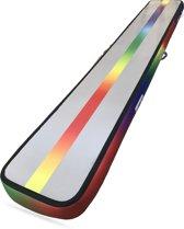 Regenboog UV printing evenwichtsbalk turnmat | AirTrack AirBeam | Gymnastiek - 15x55x360cm turnbalk | dikker langer - mat met pomp