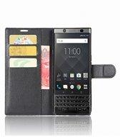 Blackberry KeyOne luxe Wallet Case, leren Book-style cover hoesje, zwart