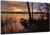 Canvas schilderij Natuur | Geel, Zwart, Blauw | 120x70cm 1Luik