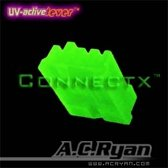 AC Ryan Connectx™ Floppy Power 4pin Female - UVGreen 100x Groen