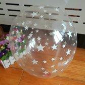 ballonnen 8x Transparant Sterren