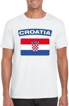 Kroatie t-shirt met Kroatische vlag wit heren M