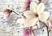 Fotobehang Flowers With Caption | XXXL - 416cm x 254cm | 130g/m2 Vlies