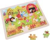Houten puzzel boerderij 48 stukken