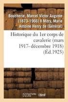 Historique Du 1er Corps de Cavalerie (Mars 1917- D cembre 1918)