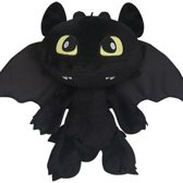 Hoe Tem Je Een Draak How To Train Your Dragon Pluche Knuffel - Toothless Night Fury 18cm
