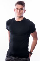 Ten Cate T-Shirt Stretch Black Round Neck - two pack - XL